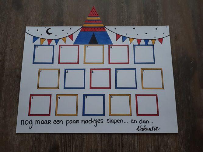 Zelf een aftelkalender maken