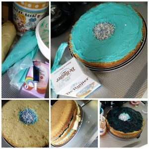 Gender reveal taart recept