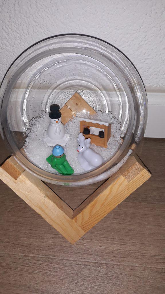Winterdorp inspiratie glazen pot