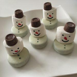 6 kersthapjes voor de etagère