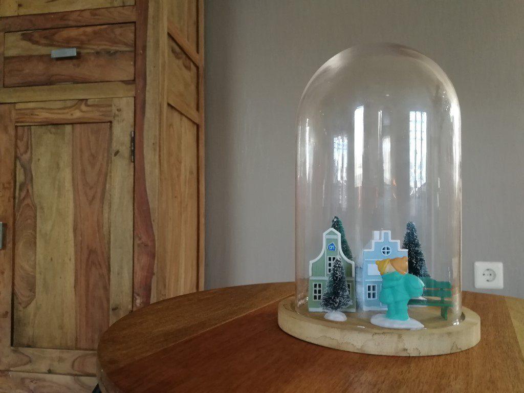 Winterdorp inspiratie glazen stolp