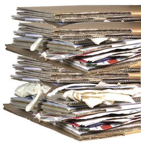 Oud papier en karton scheiden