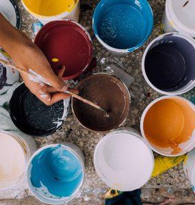 Verfspullen verven schilderen sauzen