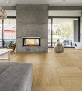 vloerverwarming onder een houten vloer