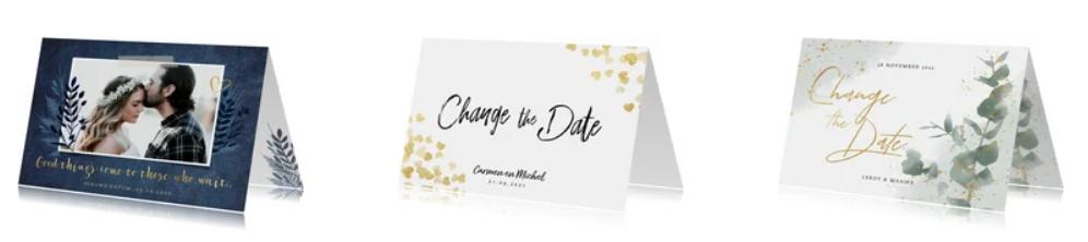 Change the date kaarten