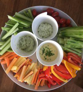 groente: groentesticks met dips