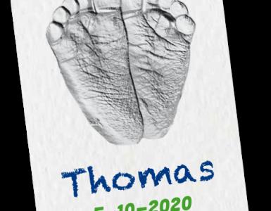 gratis voetprint van Huggies
