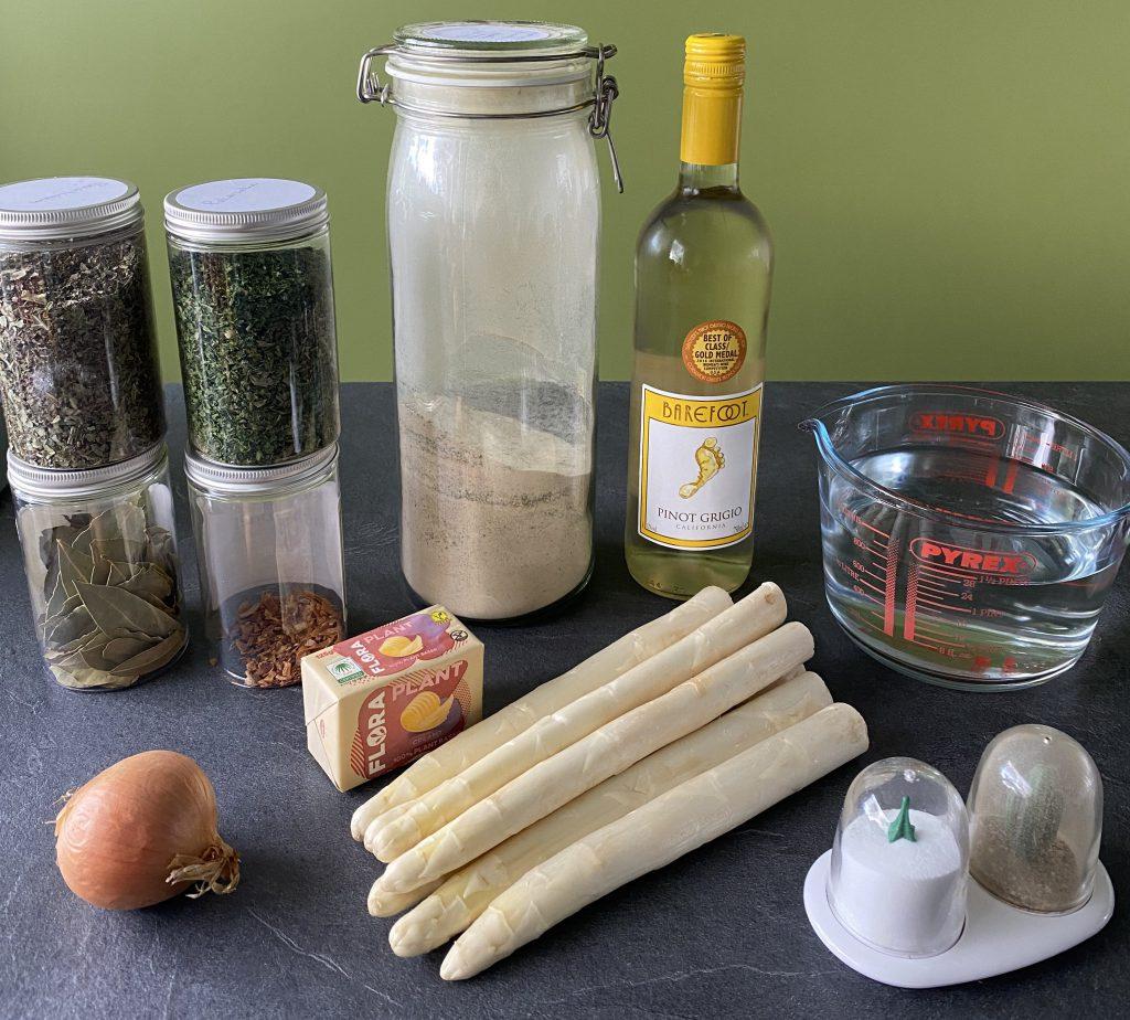 heldere aspergesoep ingrediënten