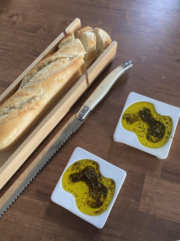 dippen in olijfolie